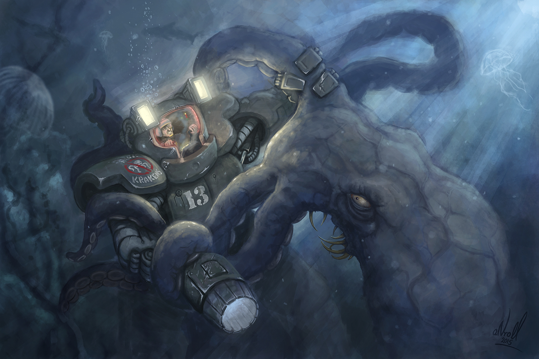 Kraken vs mech