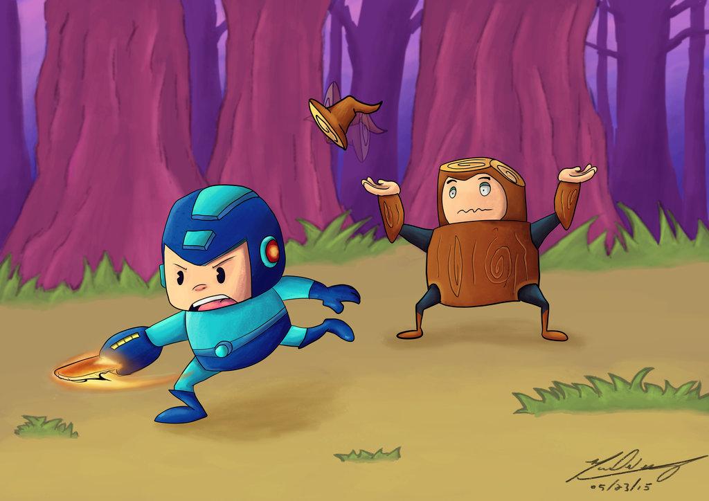 Megaman vs Woodman
