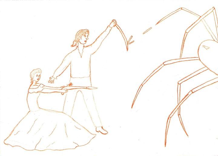 Ancient vs Futuristic - Preliminary Sketch