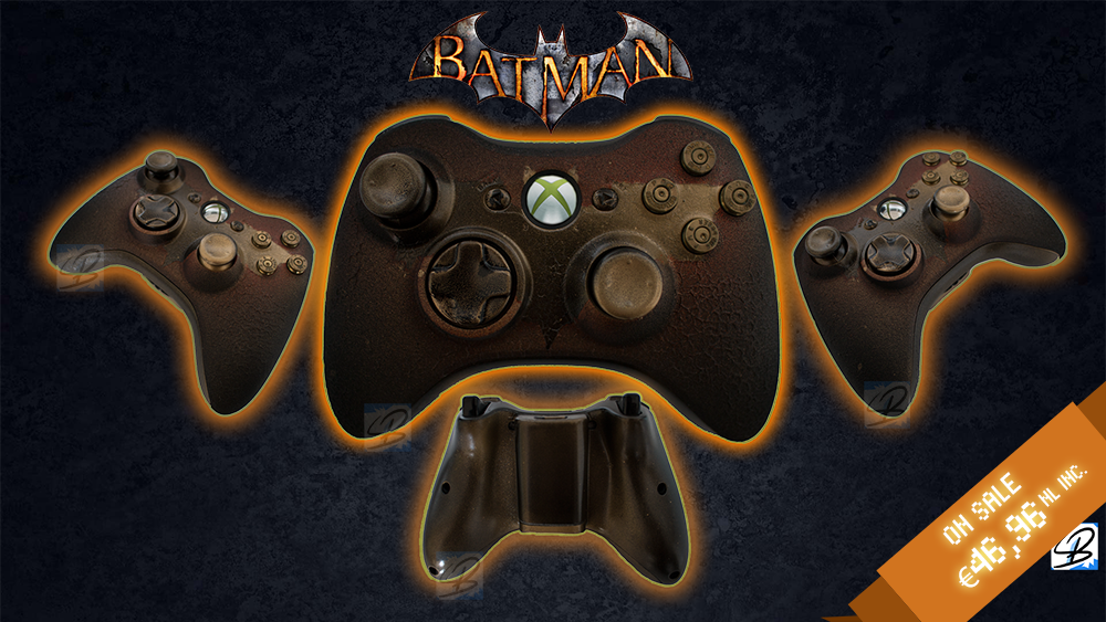 Gotham is on Fire - Custom Xbox 360 Joystick SALE