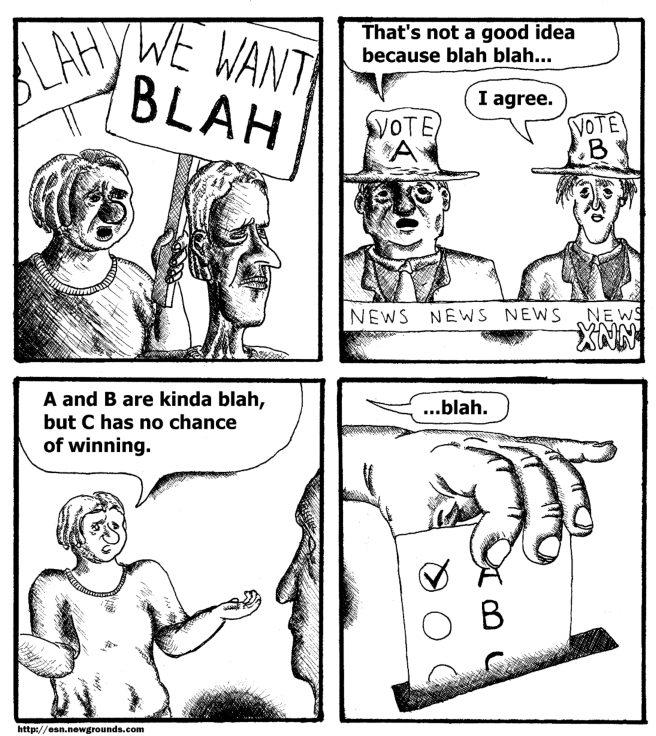 Political Blahs