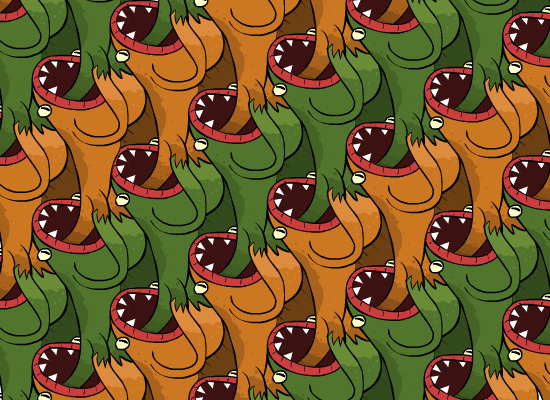 Cannibalistic Frog Worms