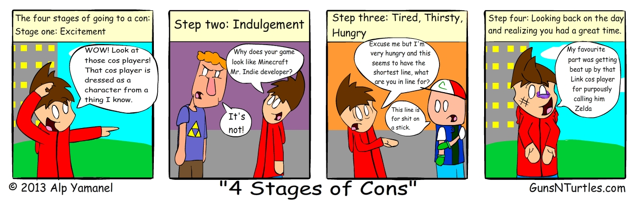 4 Stages of Cons - GunsNTurtles
