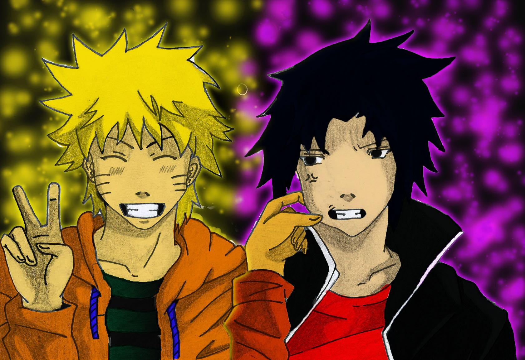 Naruto & Sasuke coloured