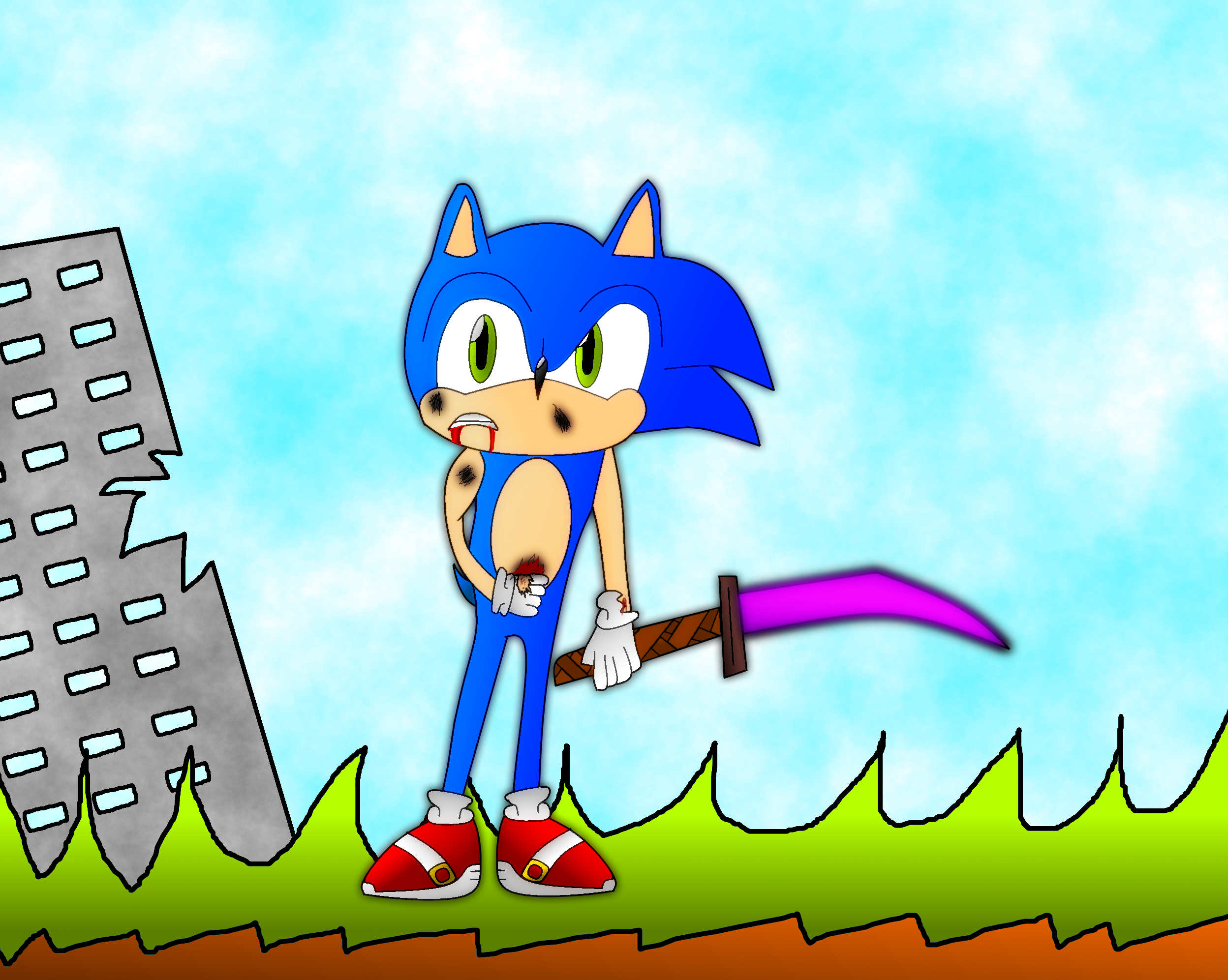 Sonic won't give up!