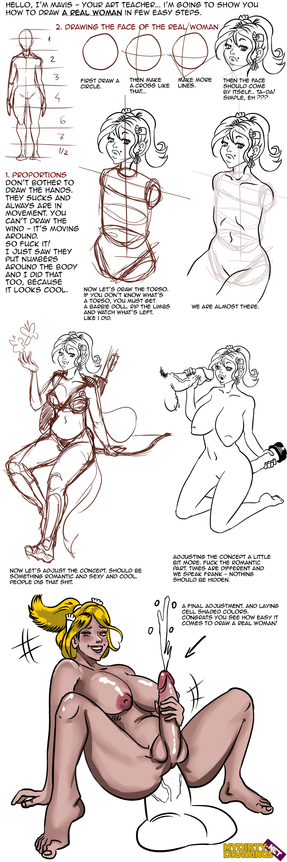 How to Draw Real Woman / Tutorial/