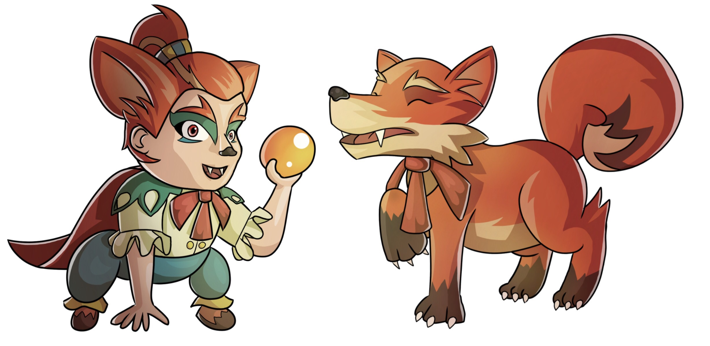 Fuhsaz in human and fox form