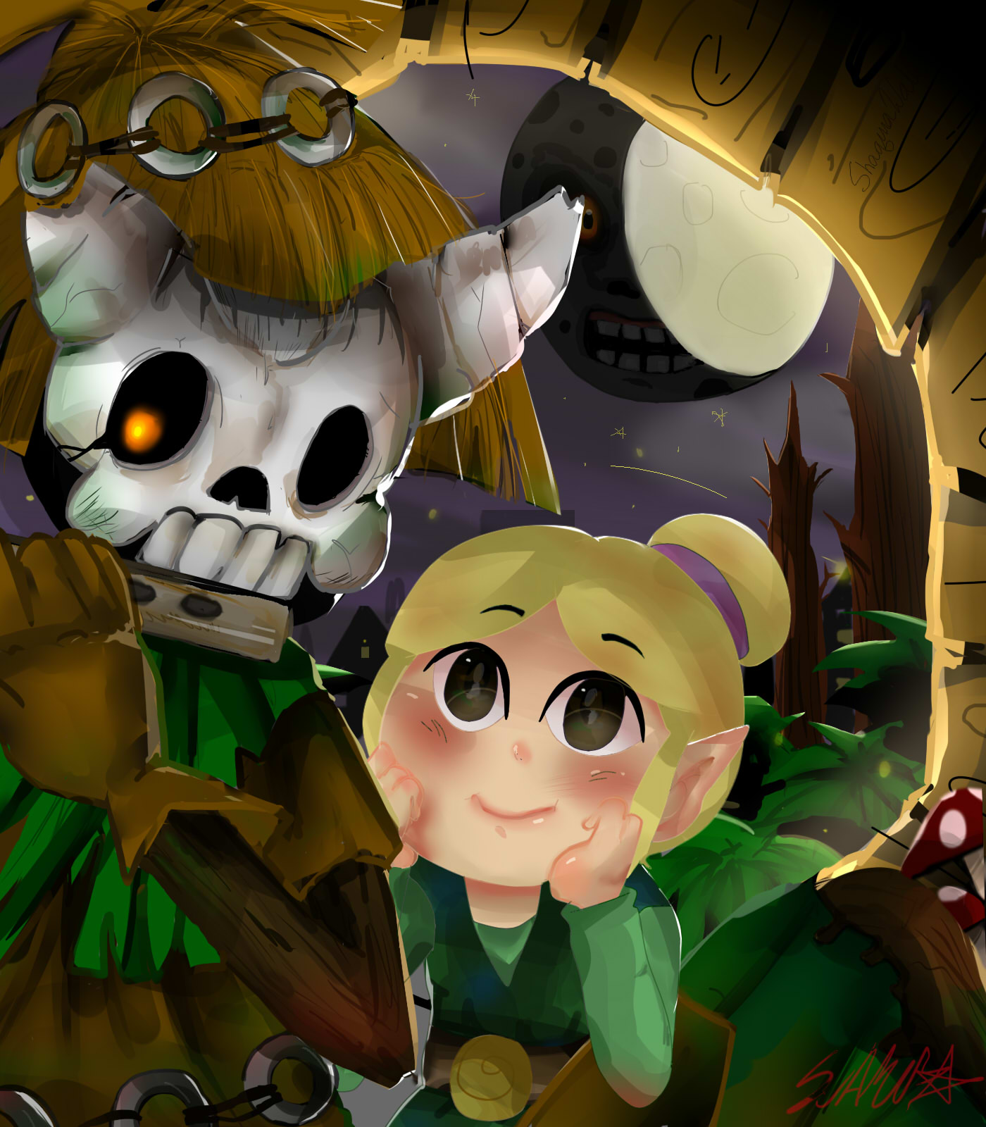 SkullKid and Link's Grandmother