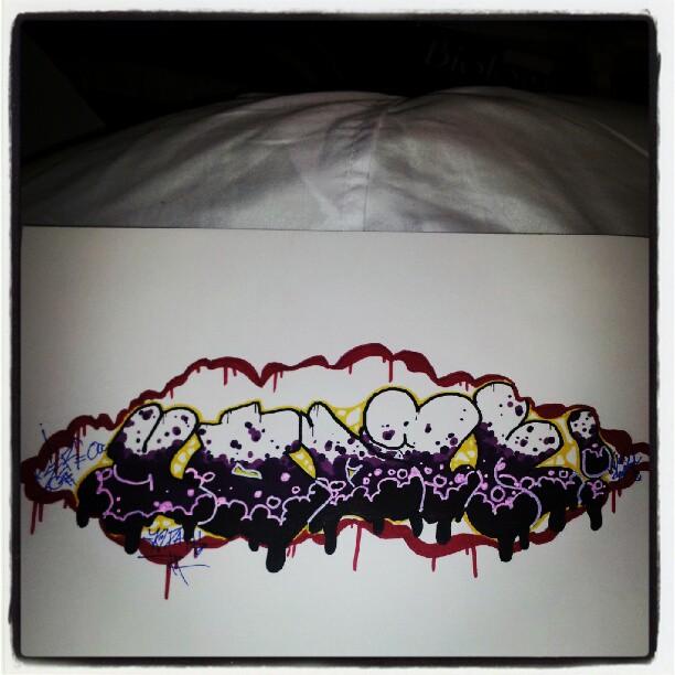 """Graffiti """"yodah"""""""