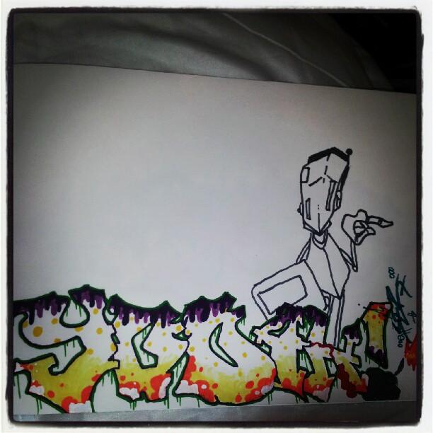 """Graffiti Practice """"YODAH"""" 2"""