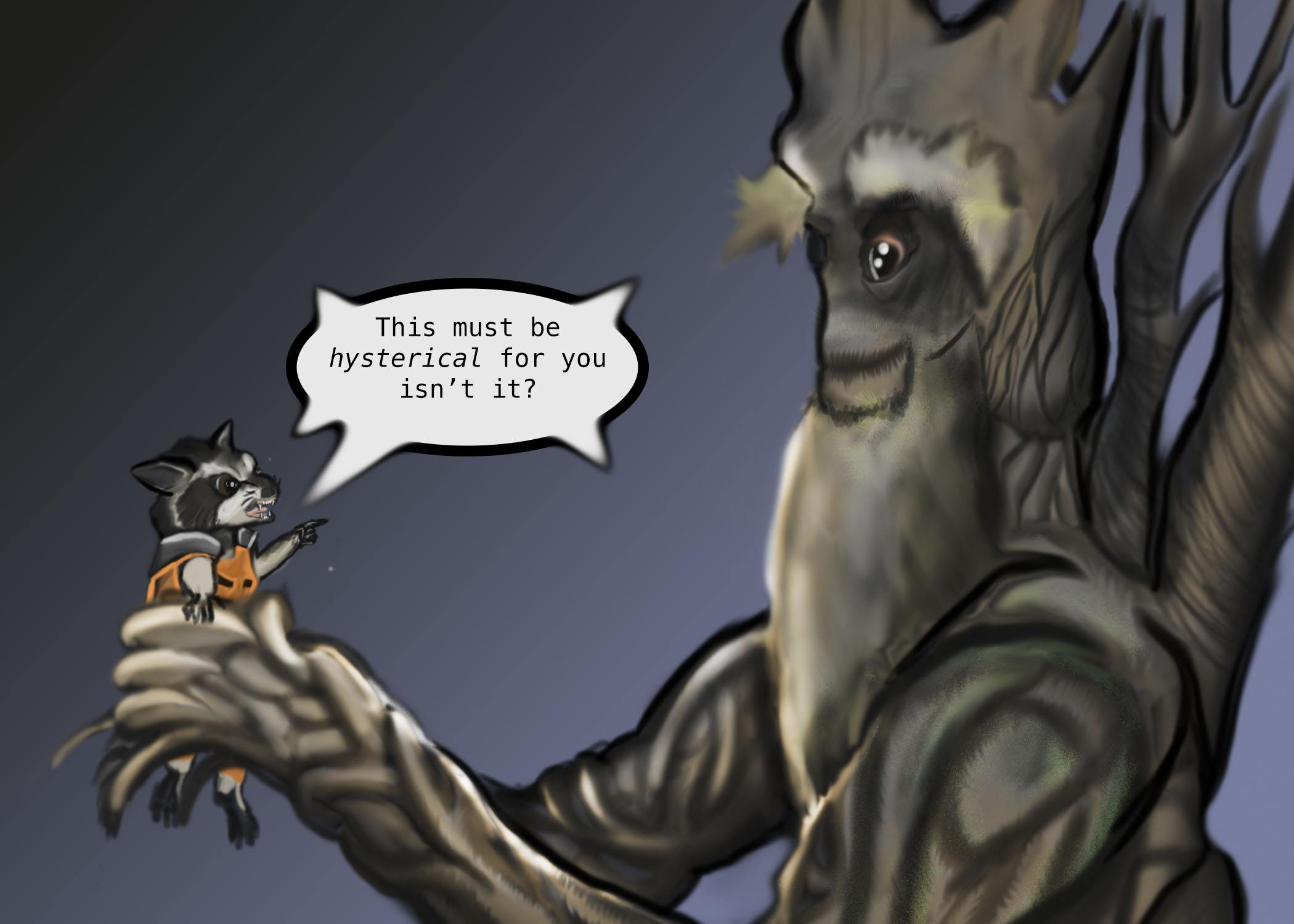"""""""Groot we never speak of this again"""""""
