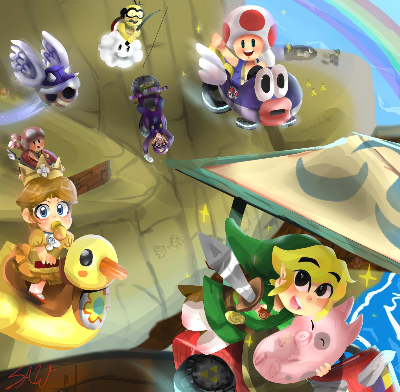 Mario Kart w/ Toon Link