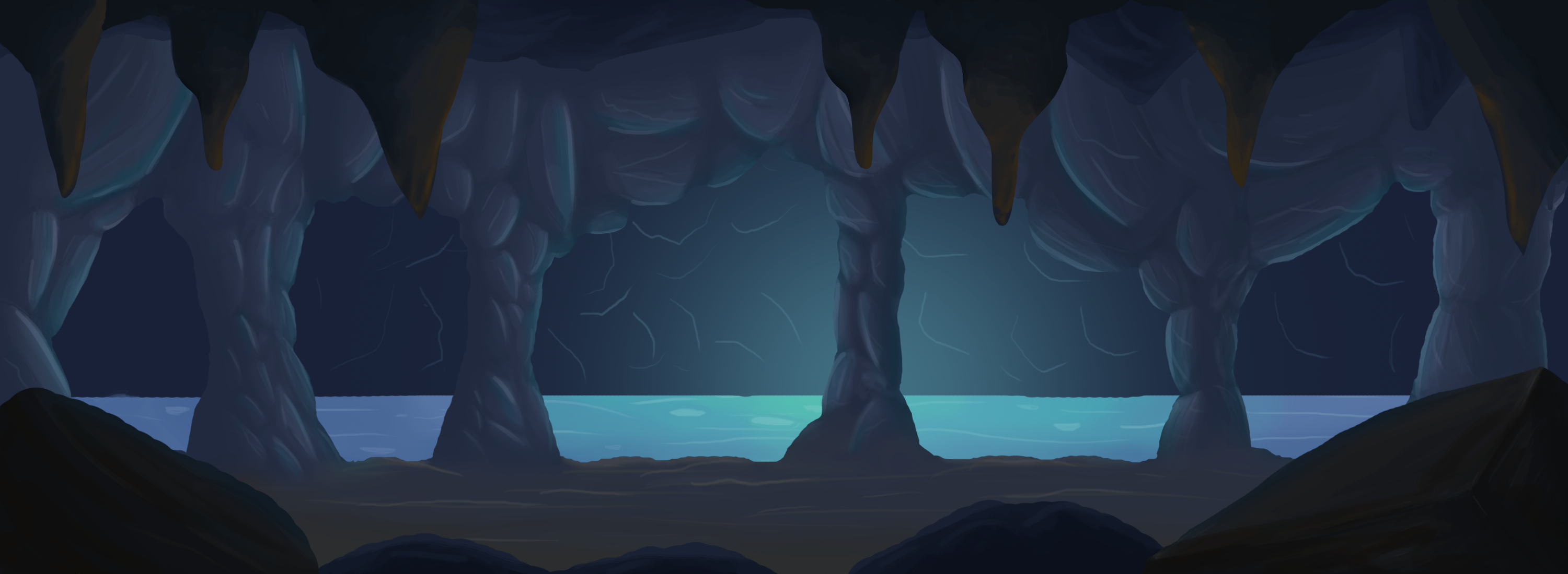 Beacon: Cave Background by CuteSbBoy on Newgrounds