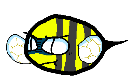 Frustrated bee