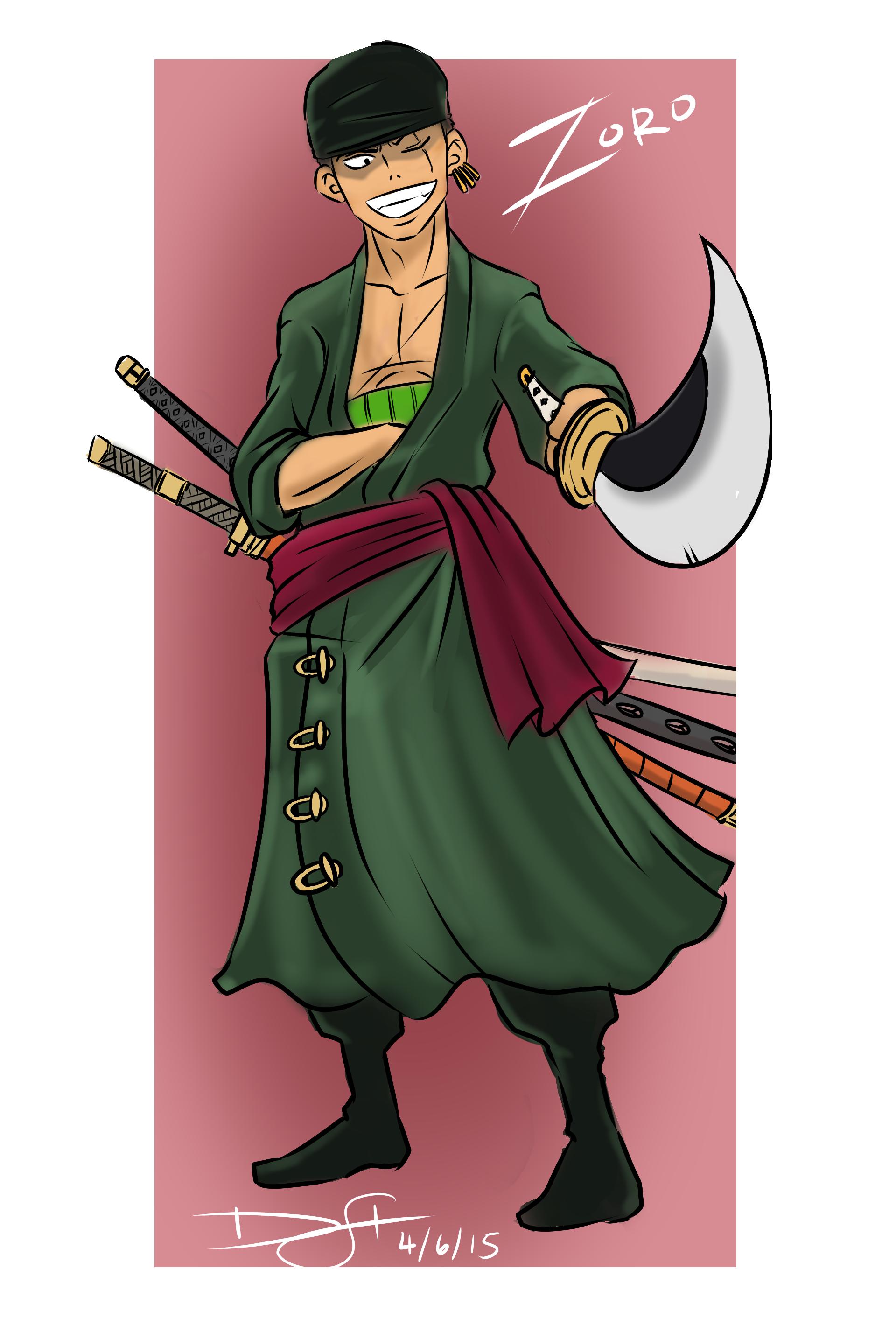 One Piece - Roronoa Zoro by DeeSeeDraws on Newgrounds