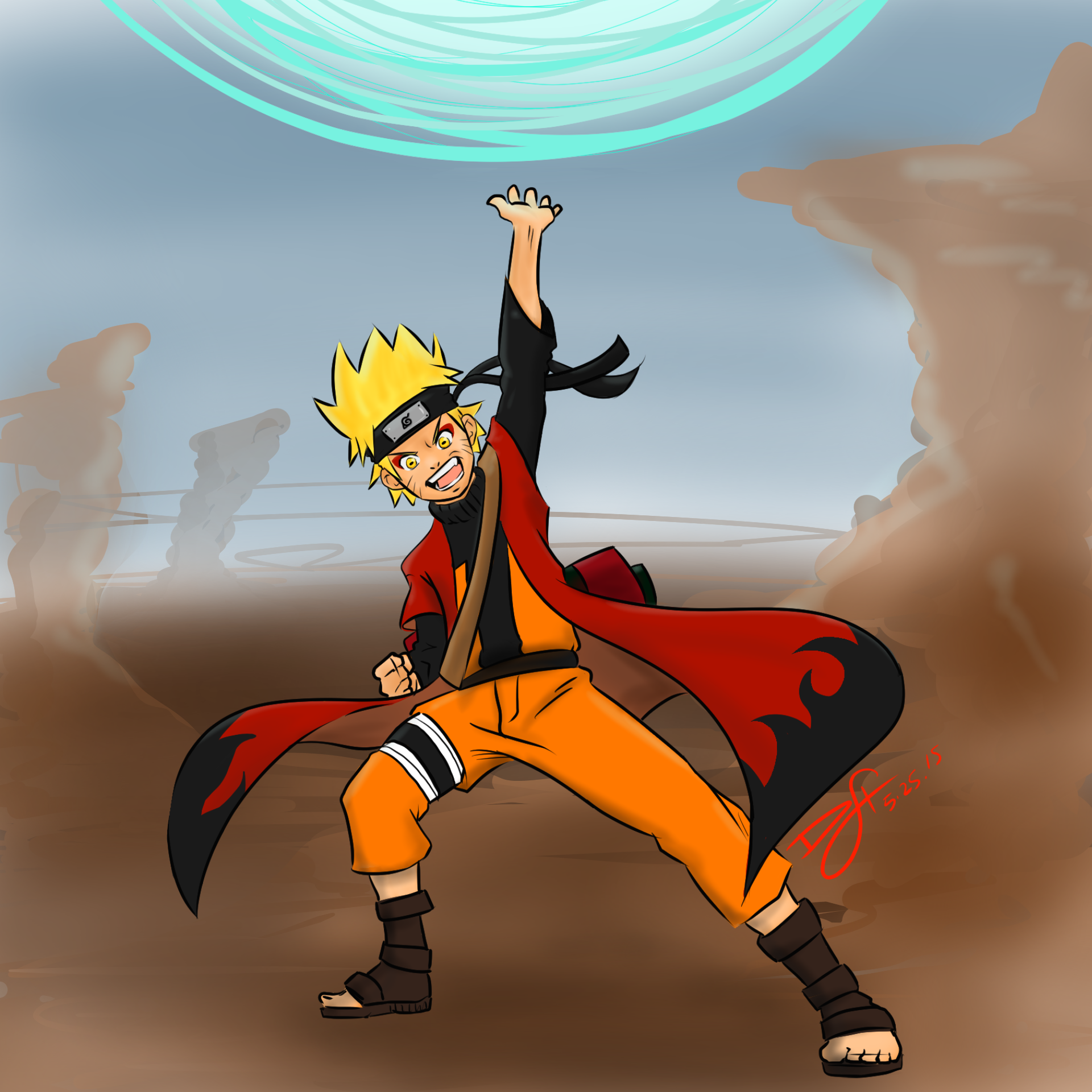 Sage mode Naruto - Giant Rasengan