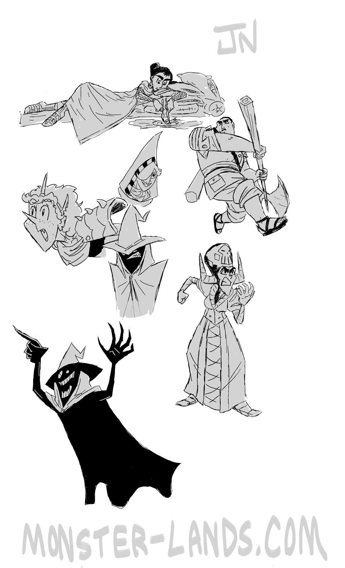 ML character drawings