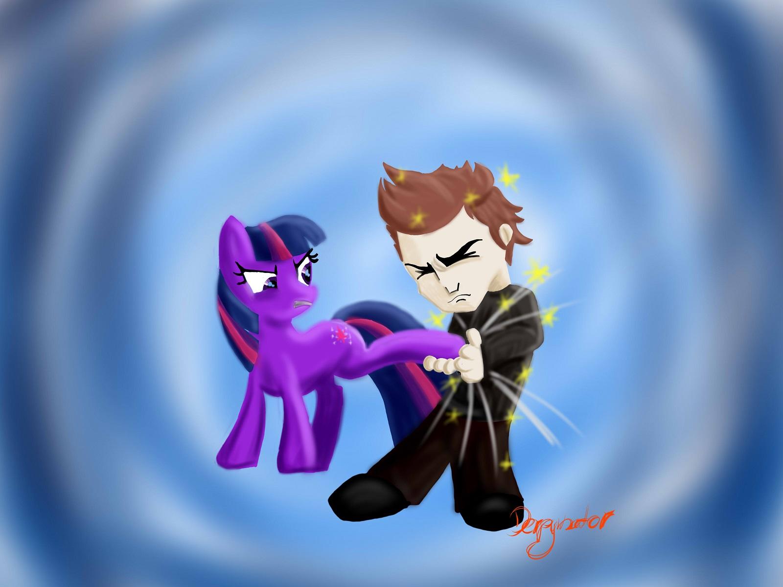 Twilight fought sparkles