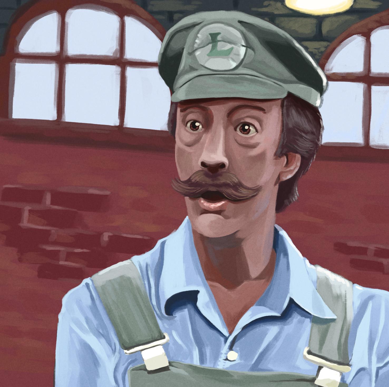 Danny Wells as Luigi (Study)