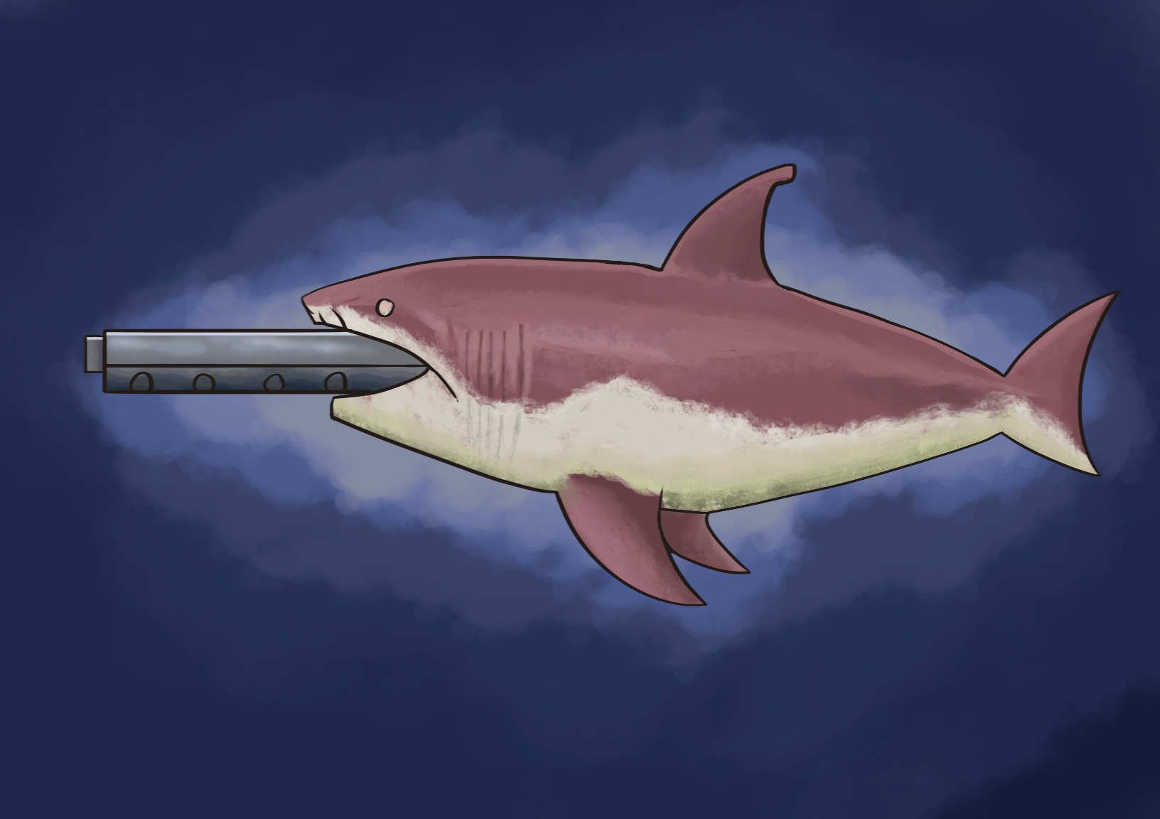 Terraria Mega Shark Painting By Coolkranx On Newgrounds