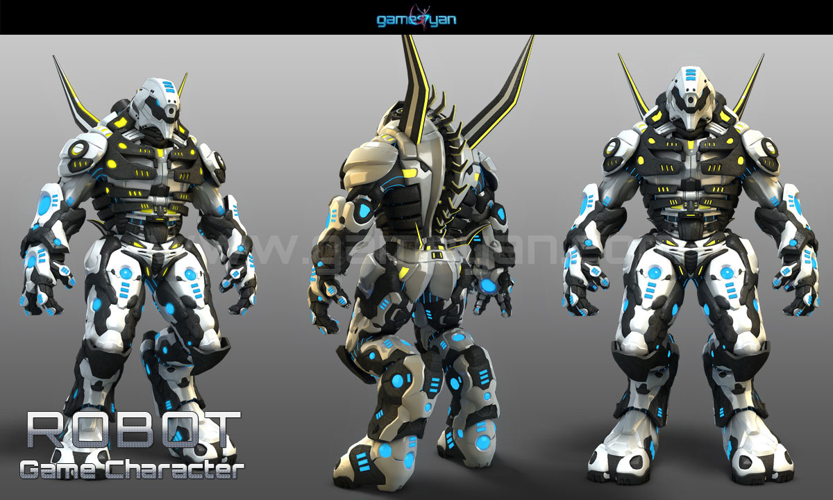 Robot Game Character Modeling