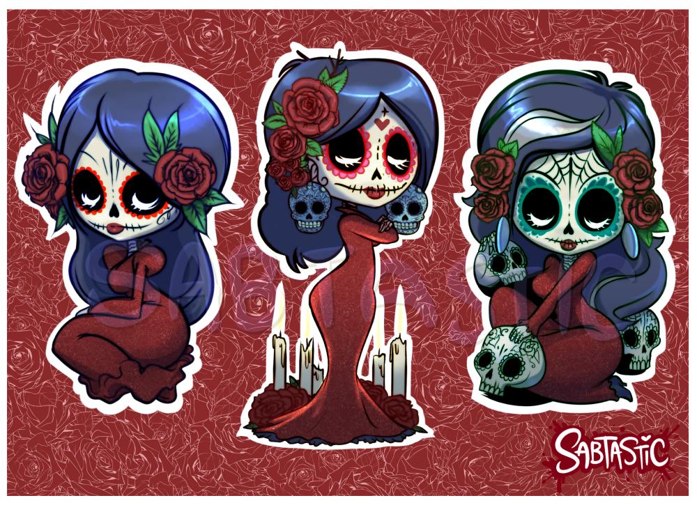 Sugar Skull Sticker Sheet