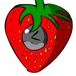Strawberry clock