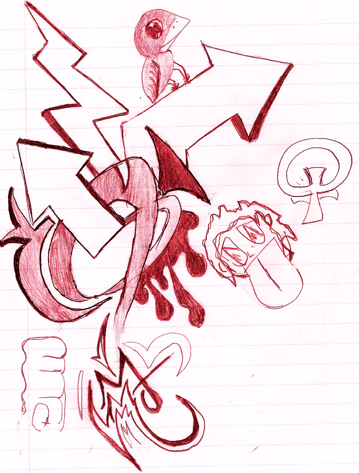 red doodle
