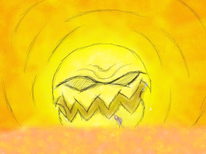 mad sun(colored sketch)