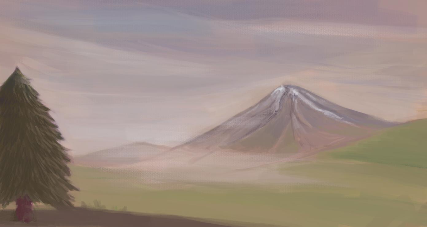 Landscape practice painting