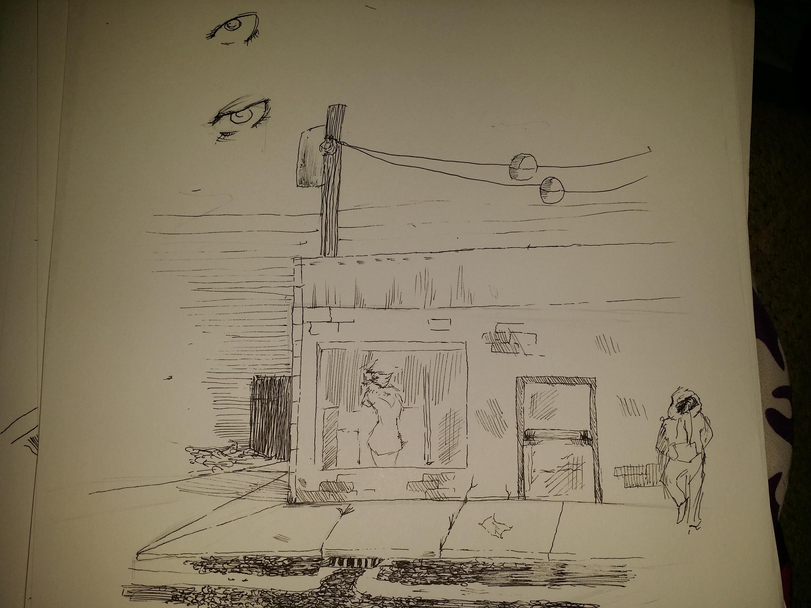 background sketch