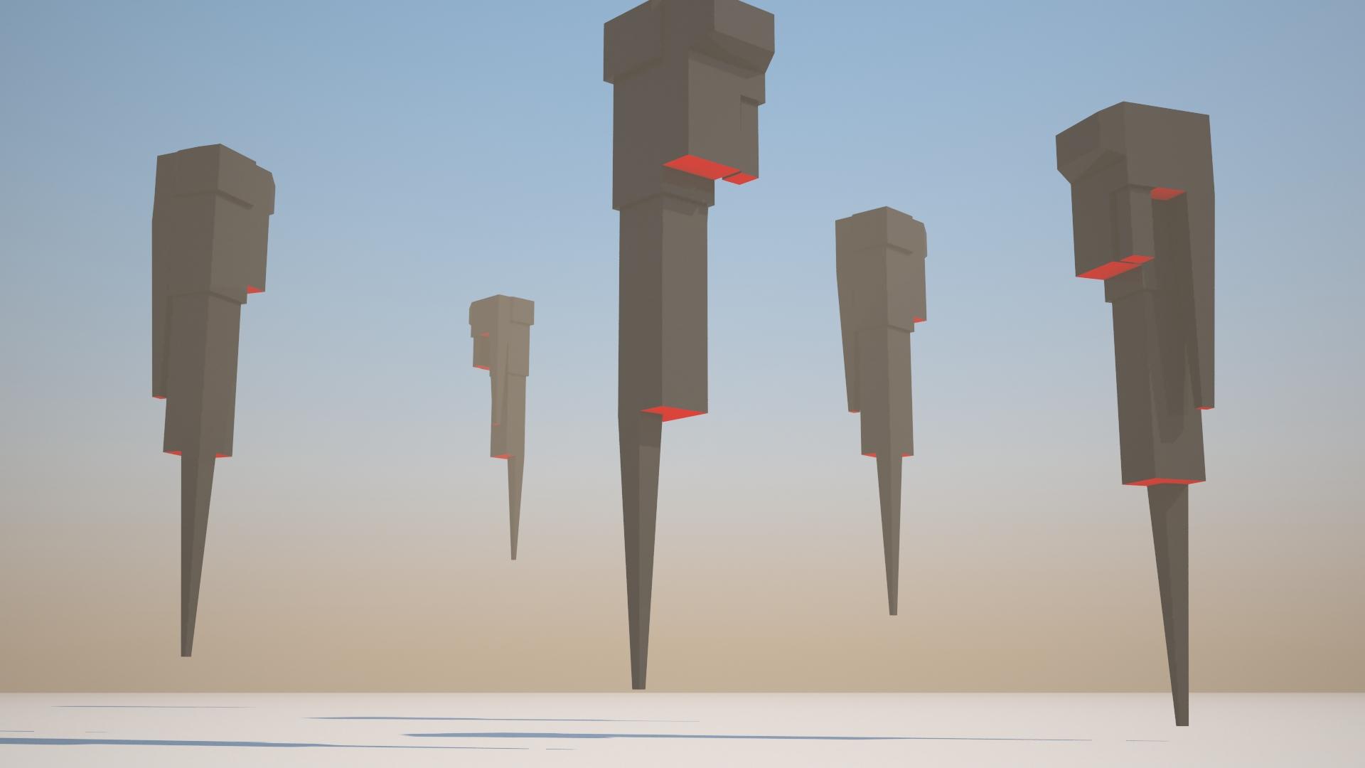LowPoly Ominous Obelisks