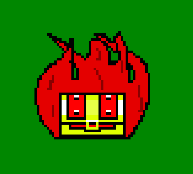 Flaming Chest