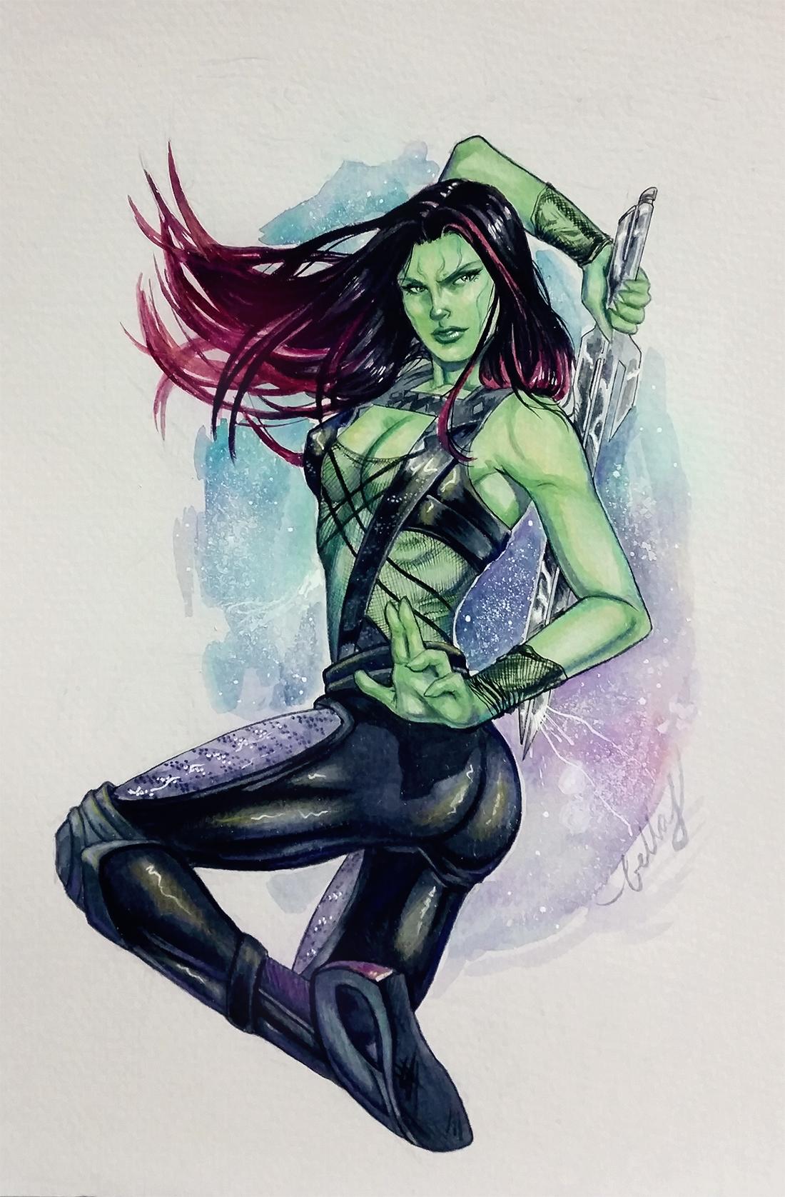 Gamora in watercolors :)