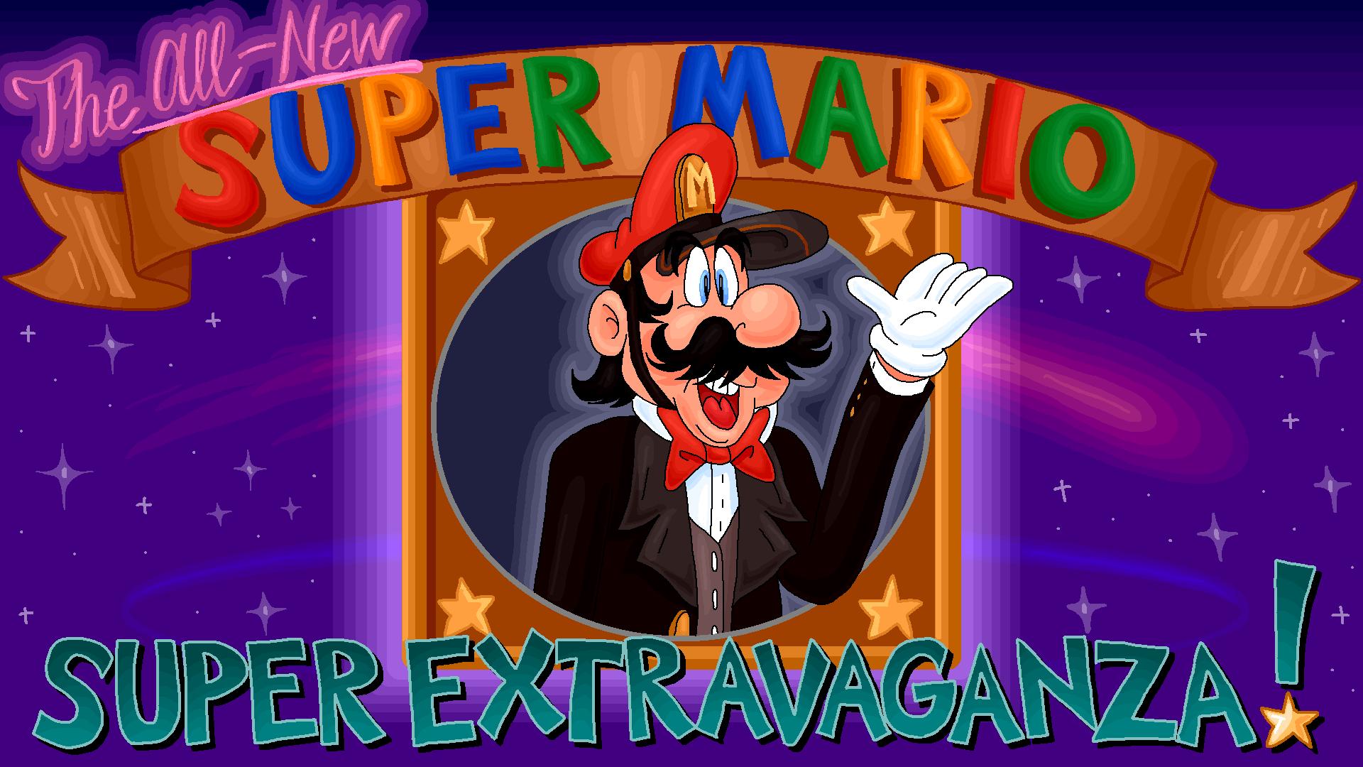 The All-New Super Mario Super Extravaganza! Main Title Card