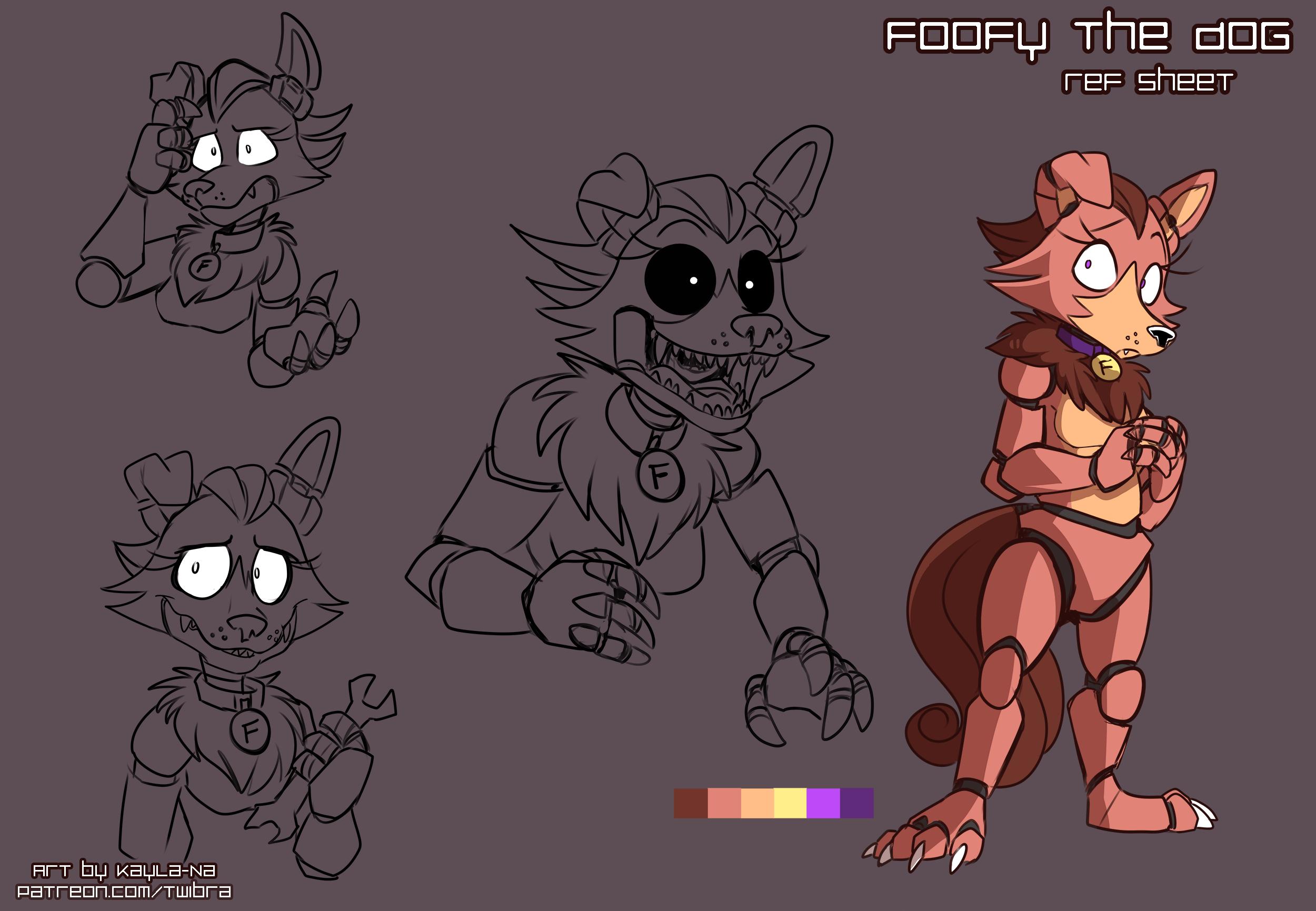 FNAF - Foofy the Dog: Ref Sheet