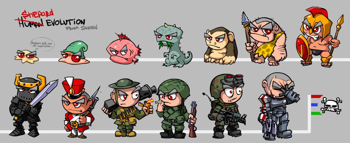 Shepard evolution
