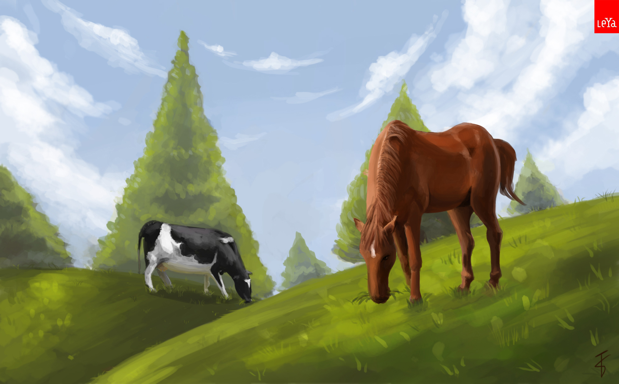Cow and Horse