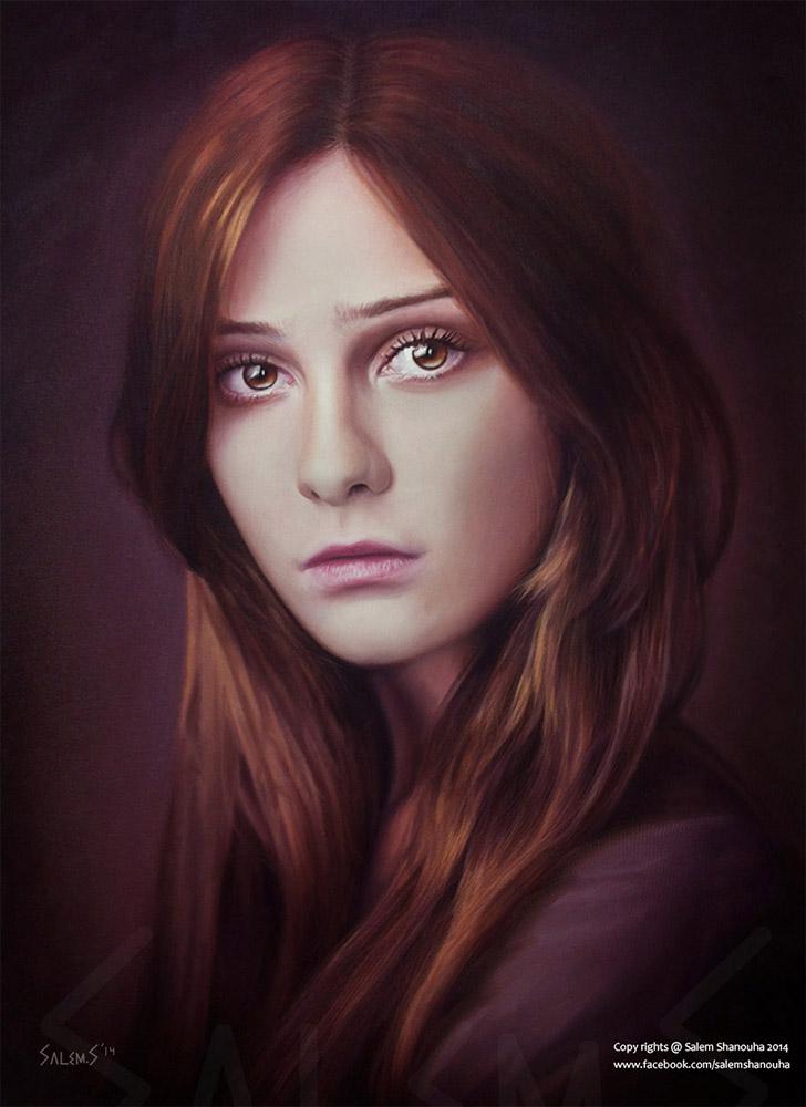 """Hurt"" Oil painting"