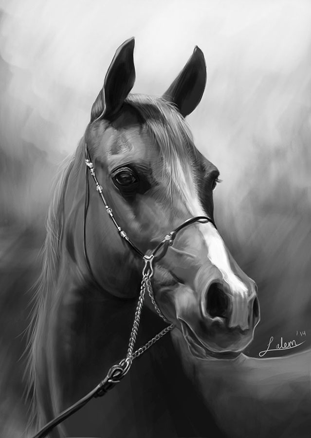 Handsome Horse painting