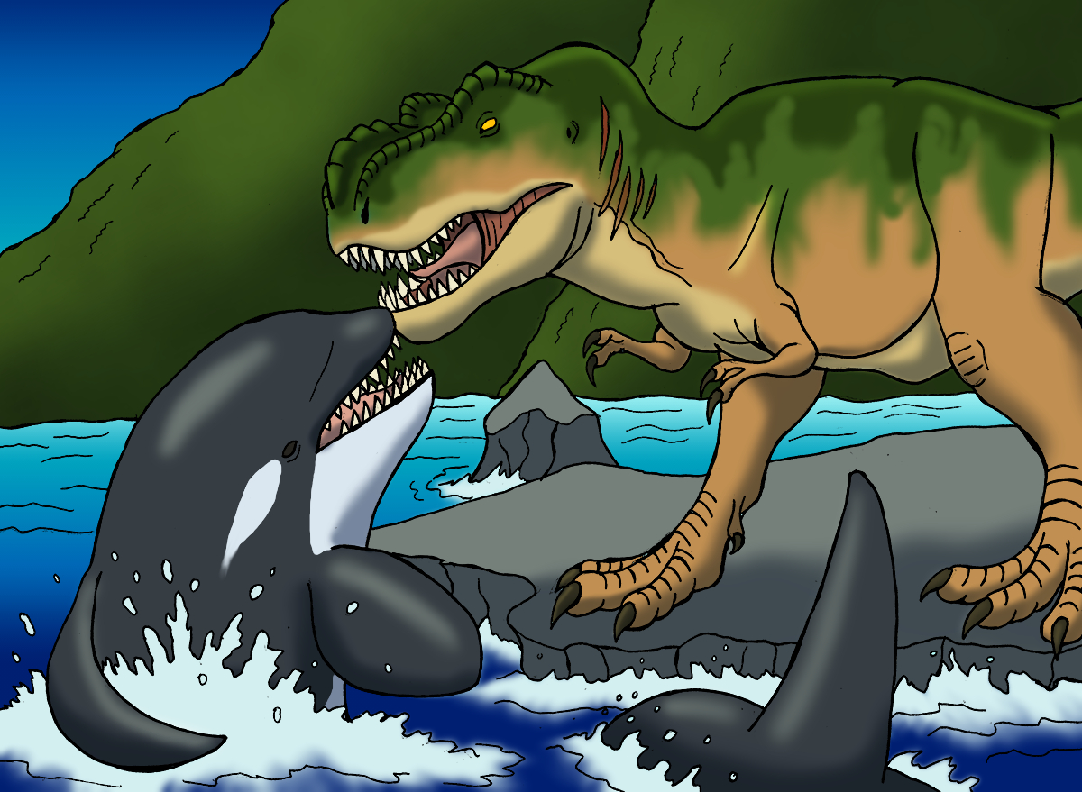 Rexy Meets Free Willy