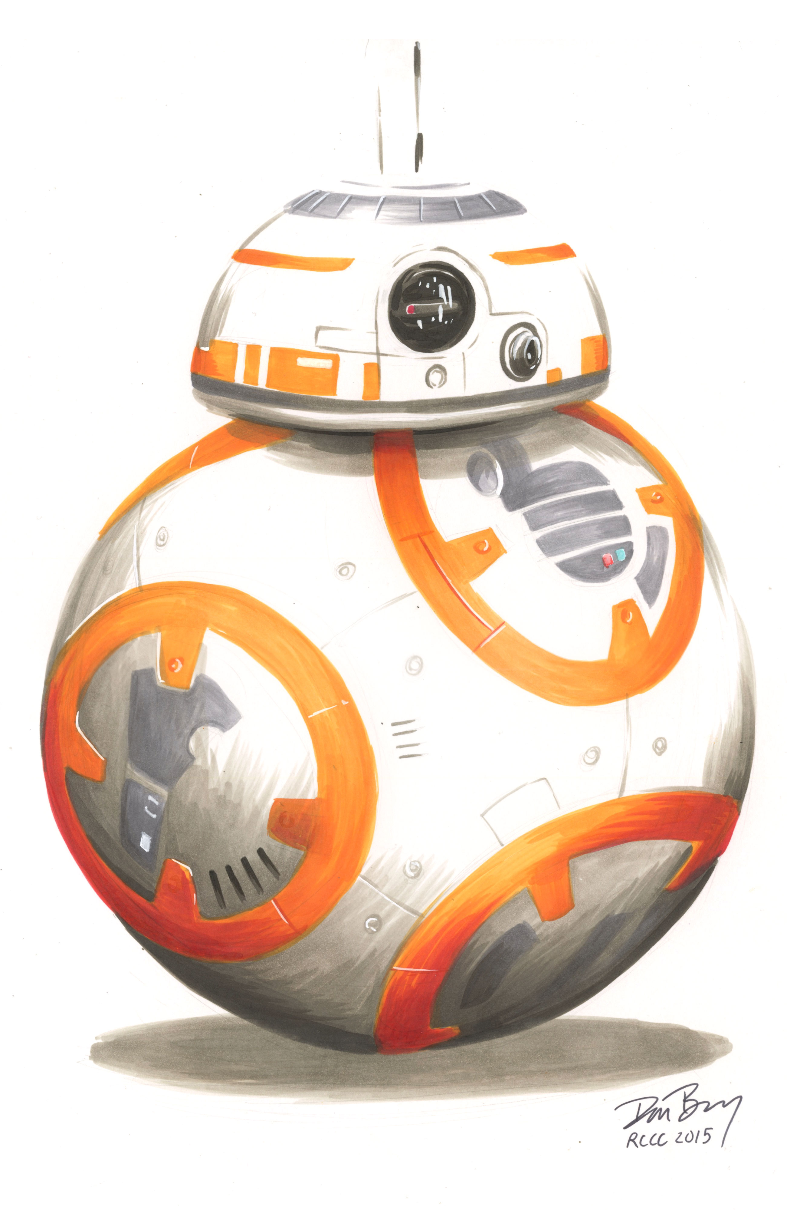 BB-8 with Copic Markers