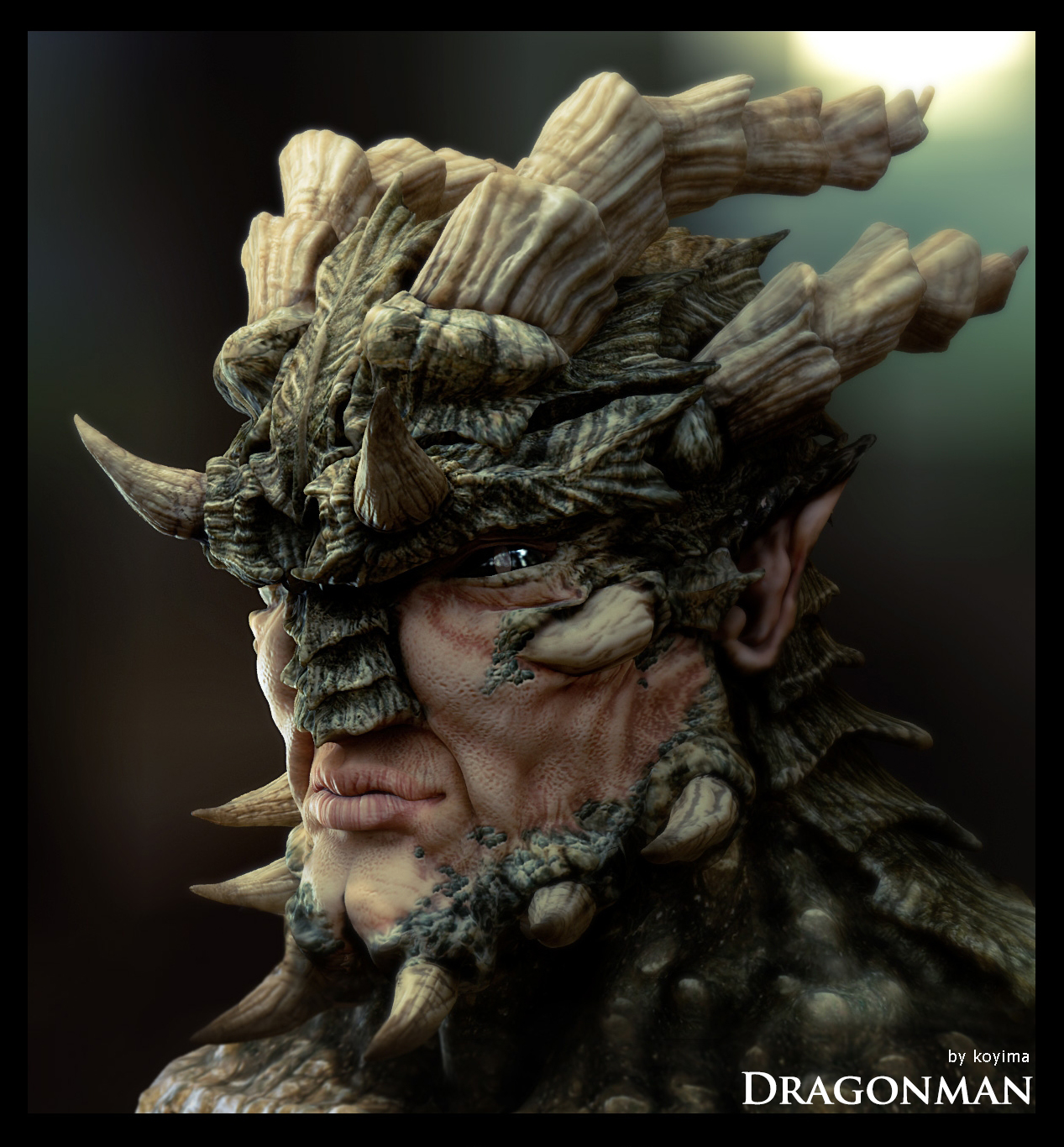 Dragonman Portrait and Video Tutorial