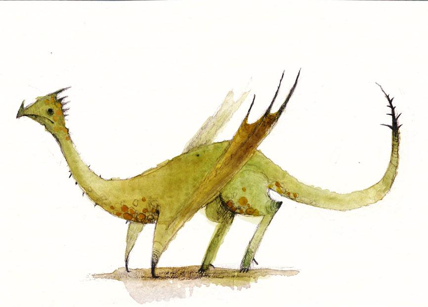 Grumpy dragon