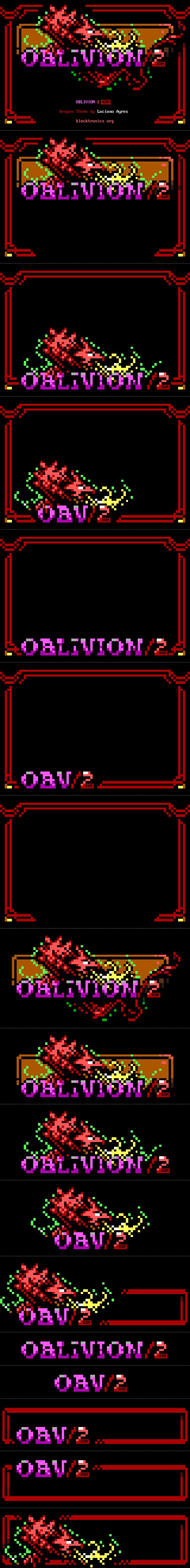 OBLIVION/2 XRM BBS Software Dragon Theme