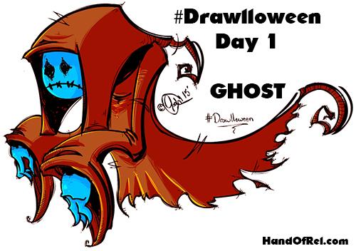 DRAWLLOWEEN- Speed Drawing #1: Ghost