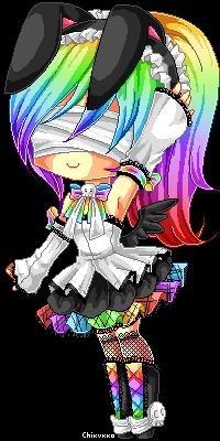 Rainbow Techno Bunny