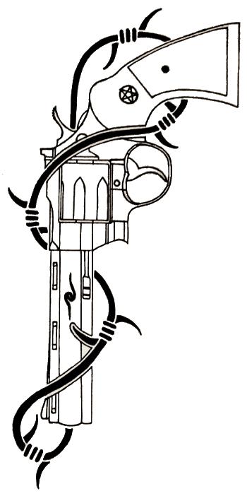 Colt Python Tattoo