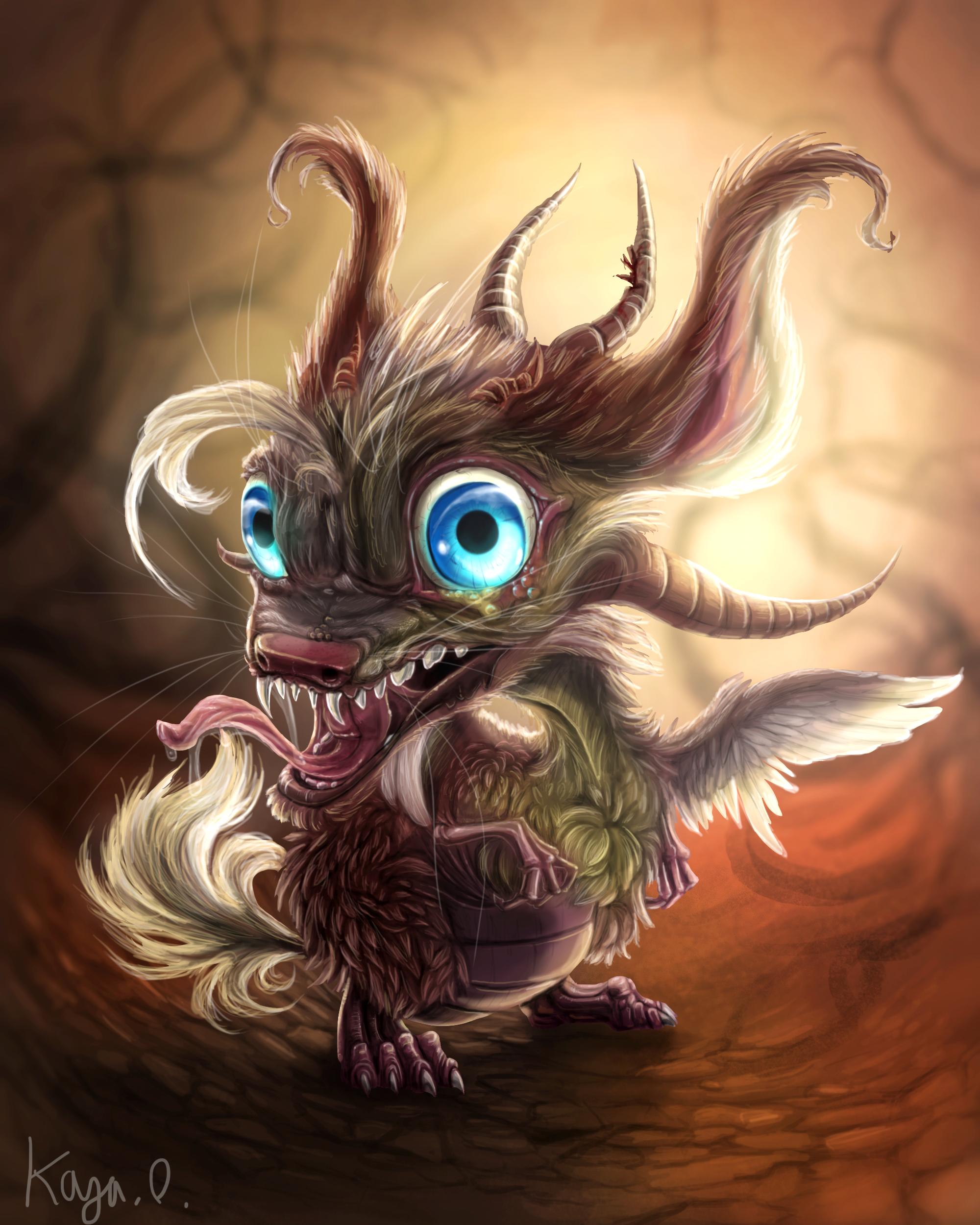 Fuzzy dragon.