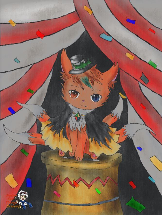 commision - circus fox